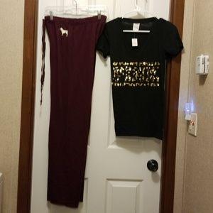 Victoria secret pajamas sets w/foil